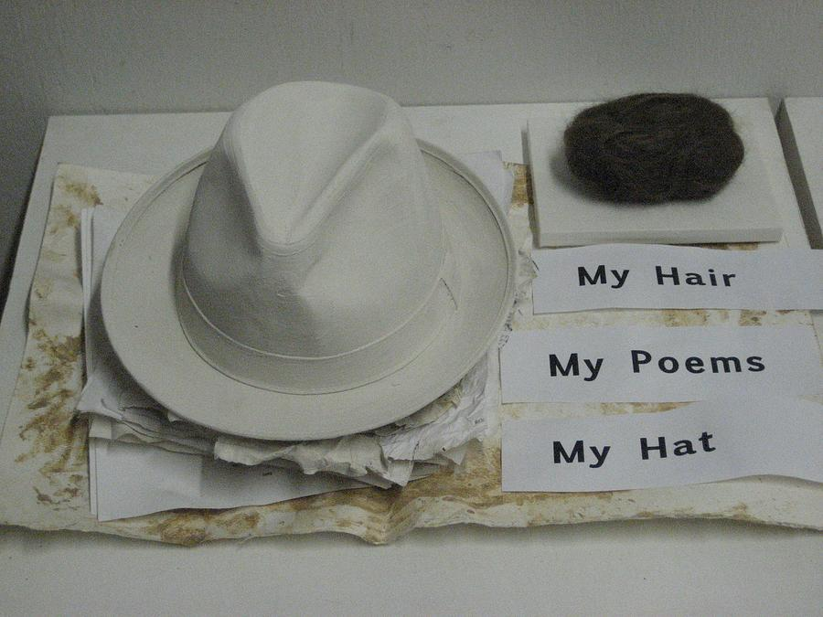 Instalation Photograph - My Hair  My Poems  My Hat by Stephen Hawks