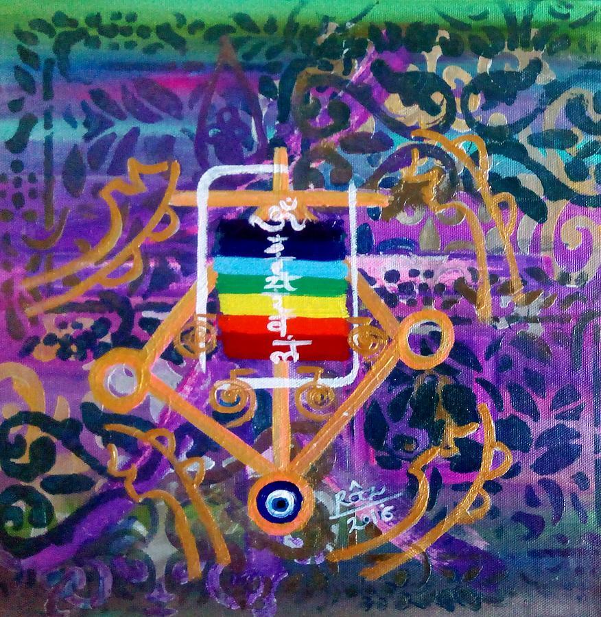 Chakra Healing Painting - Plenary Healing My Happy Chakras by Rizwana Mundewadi