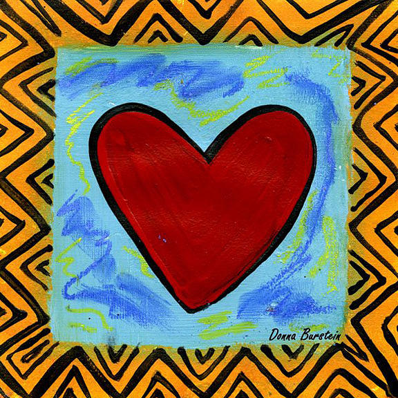 Heart Painting - My Heart by Donna Burstein