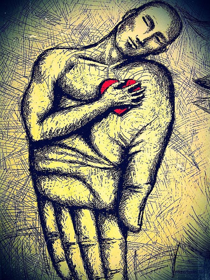 Heart Digital Art - My Heart In Your Hand by Paulo Zerbato