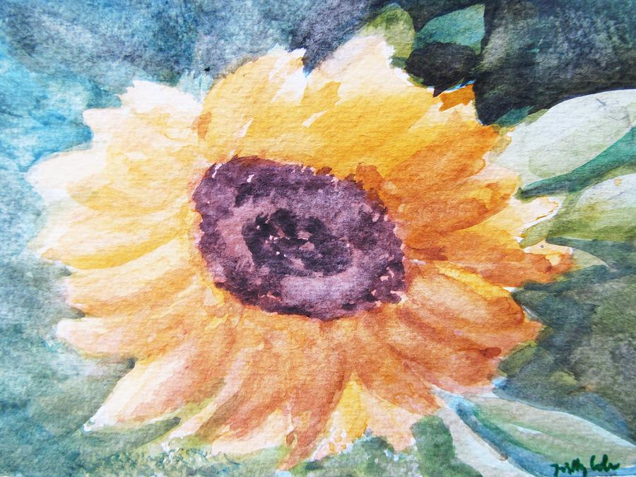 Easter Painting - My Heart Is A son Flower by Trilby Cole