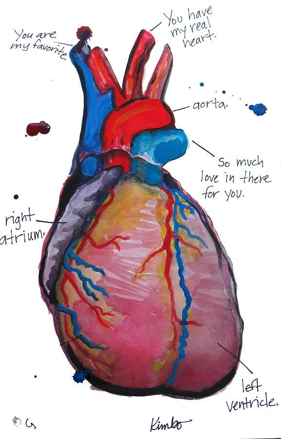 Heart Painting - My Heart by Kimbo Jackson