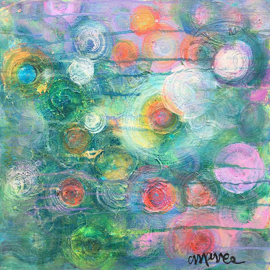 Circle Painting - My Heart Will Find You by Laurie Maves ART