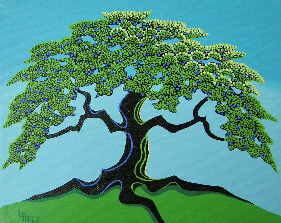Trees Painting - My Hill by Larissa Holt