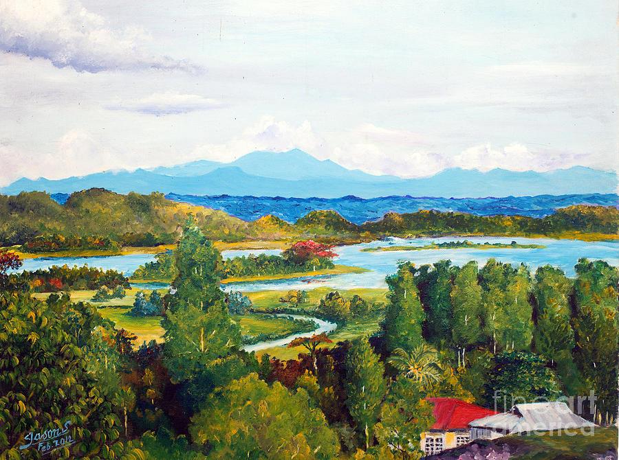 Hills Painting - My Homeland by Jason Sentuf