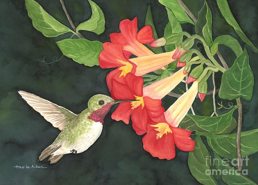 My Hummingbird - Watercolor by Hao Aiken