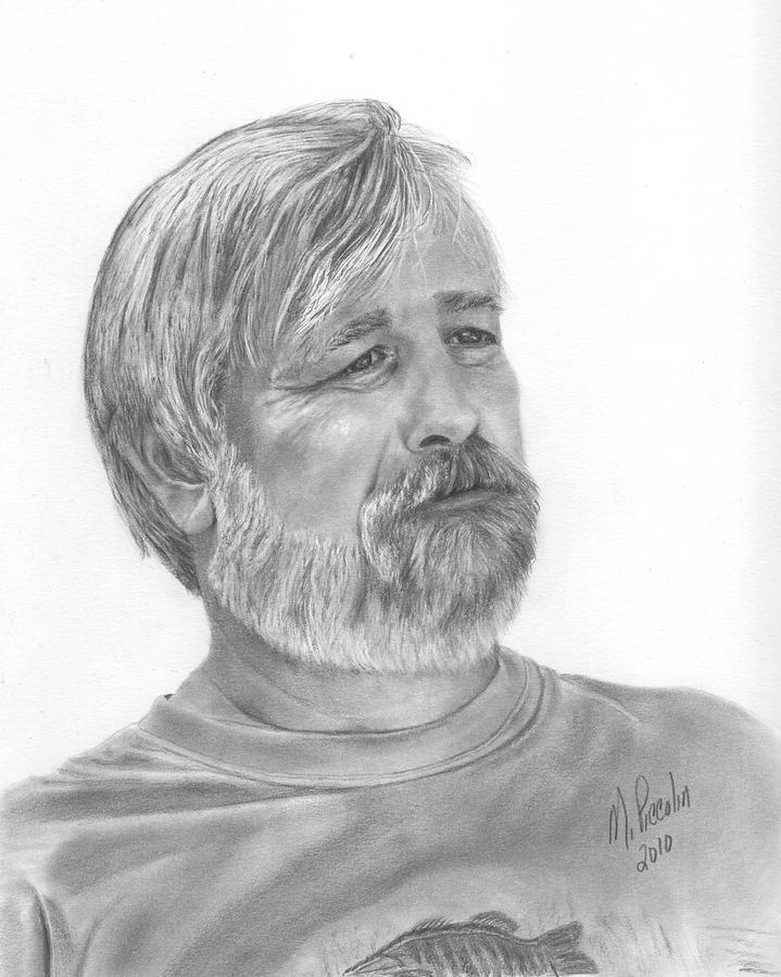 Man Drawing - My Husband by Marlene Piccolin