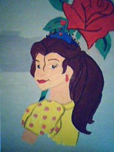 My Impression Of Disney Princess Painting by Ayesha Barrow
