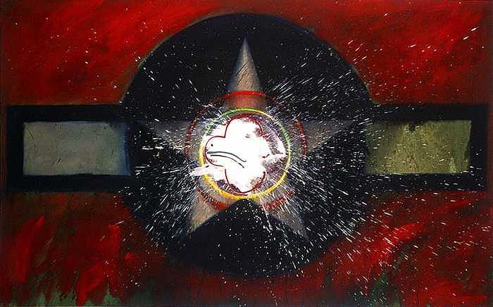 Usaaf Insignia Painting - My Indian Red by Charles Stuart