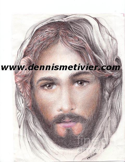 Jesus Drawing - My Jesus by Dennis  Metivier