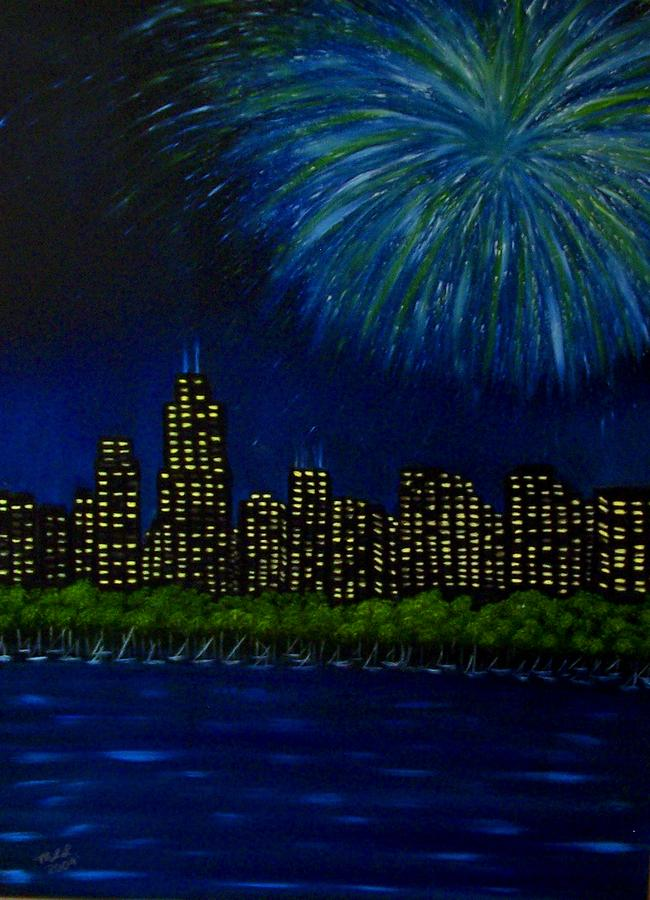 Chicago Painting - My Kind Of Town by Marie Lamoureaux