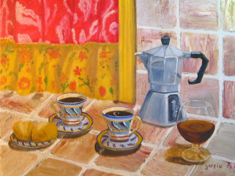 Still Life Painting - My Kitchen Cafe by Roger E Gorrin