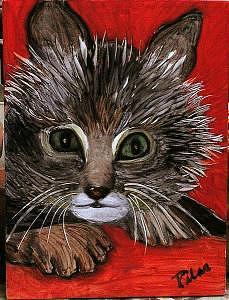 My Kittie Cat Painting by Pilar  Martinez-Byrne