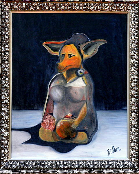 Dog Painting - My Life As A Dog by Pilar  Martinez-Byrne