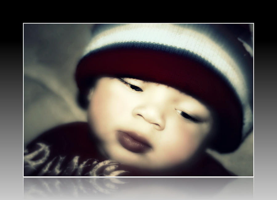 Portrait Photograph - My Little Doll He Is by Vanessa Reed