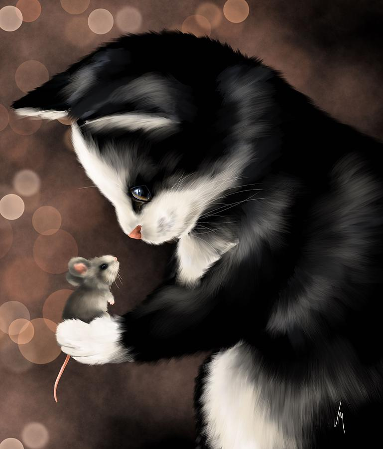 Friend Painting - My Little Friend by Veronica Minozzi