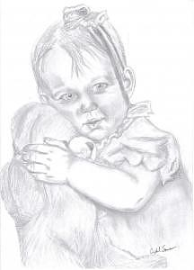 Drawing Drawing - My Little Girl by Crystal Sons