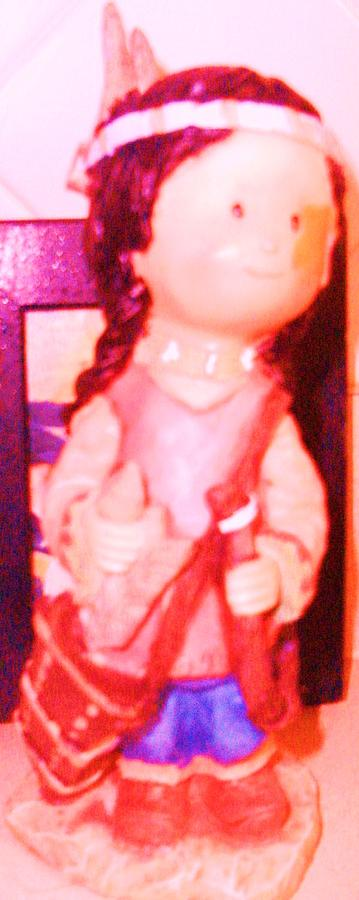Doll Photograph - My Little Indian Doll by Anne-Elizabeth Whiteway