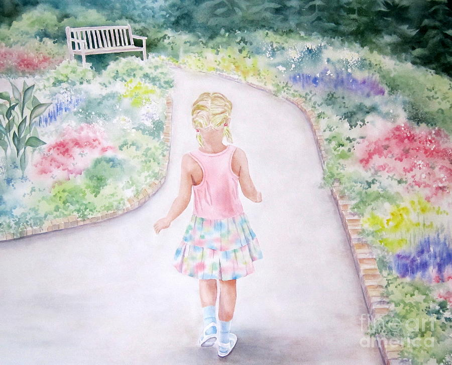 Girl Painting - My Little One by Deborah Ronglien