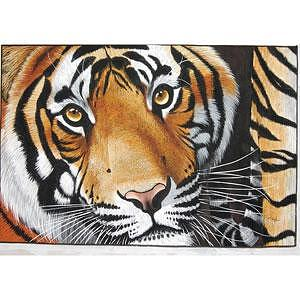 Tiger Painting - My Look by Mahesh  Jangam