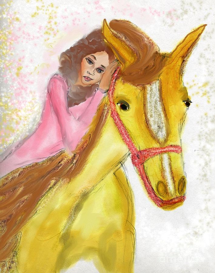 Mare Digital Art - My Mare And Me by Anna Angelou