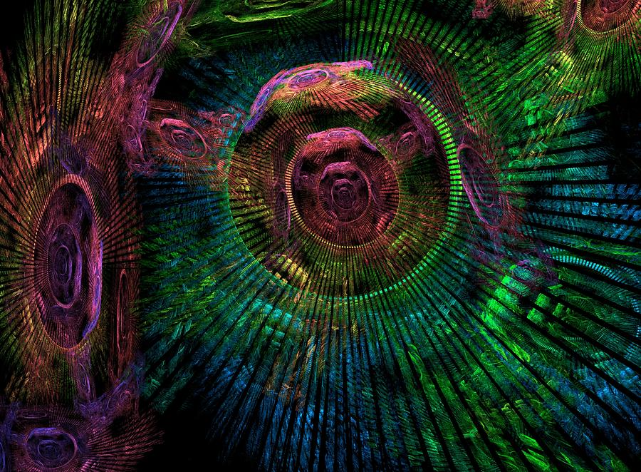 Fractal Digital Art - My Minds Eye by Lyle Hatch