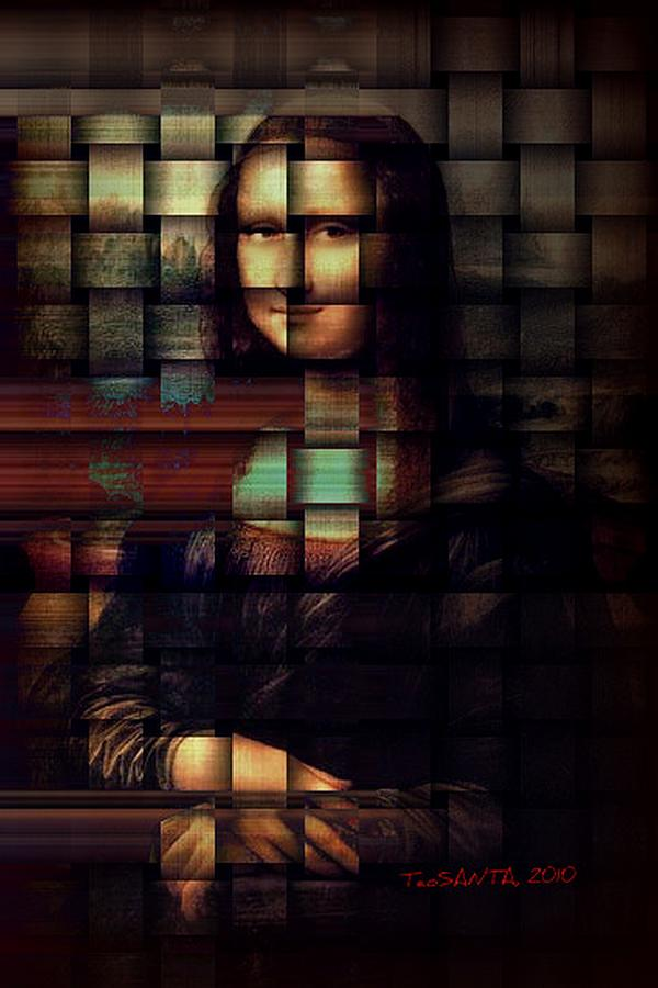Mona Lisa Painting - My Mona Lisa  Weave Series by Teodoro De La Santa