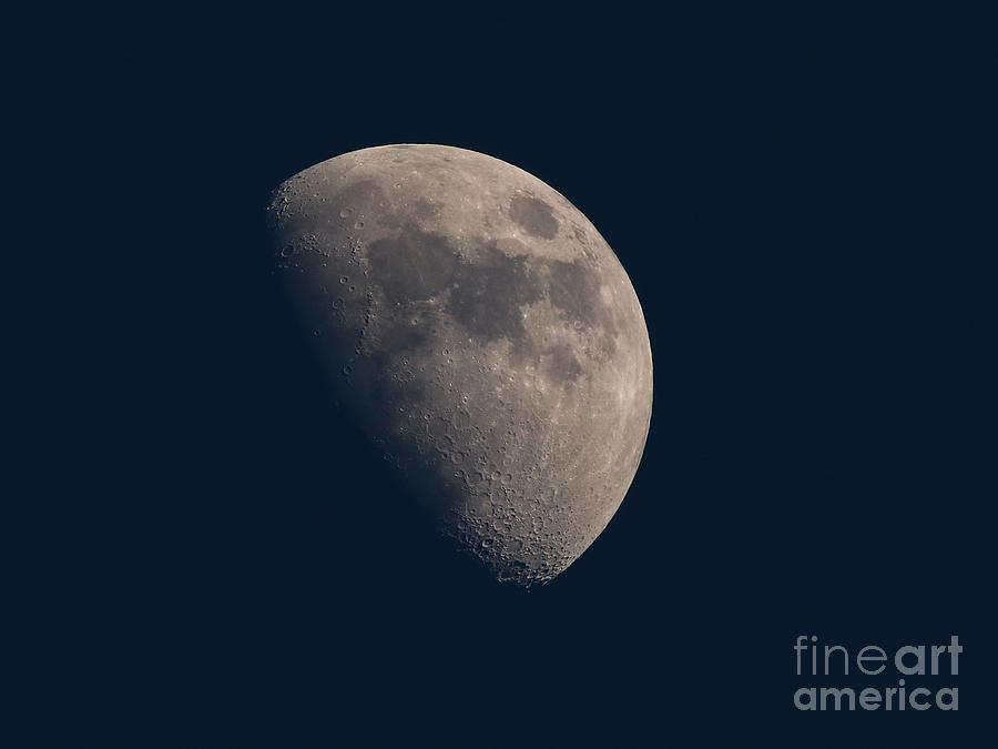 La Luna Photograph - My Moon Of 25 March 2018 by Tony Lee