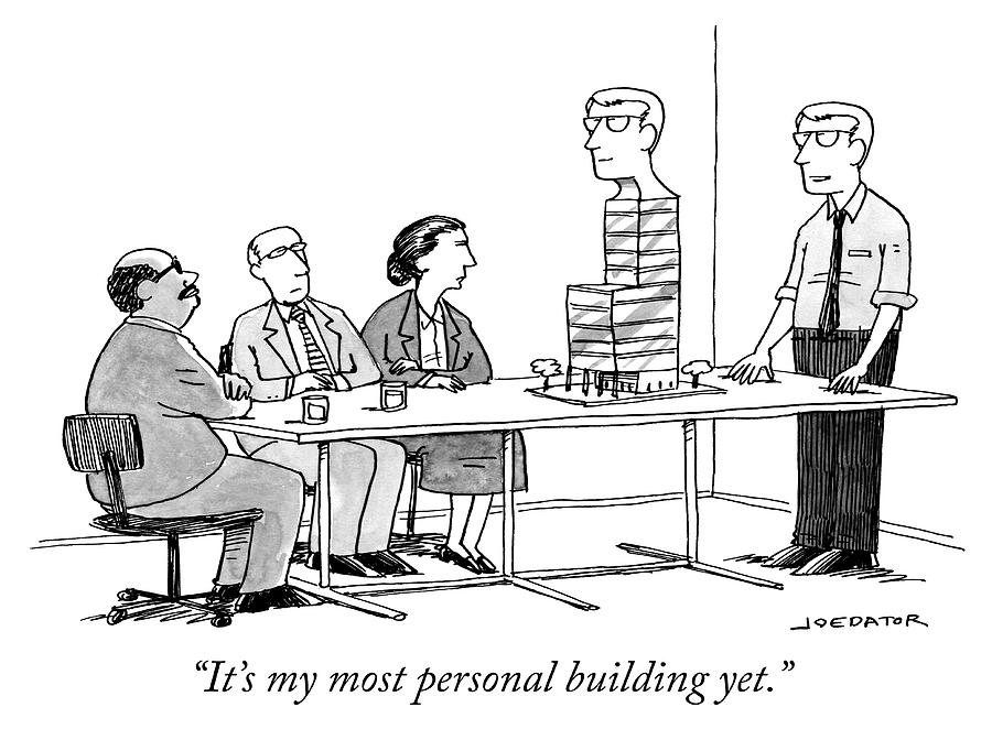 My most personal building Drawing by Joe Dator