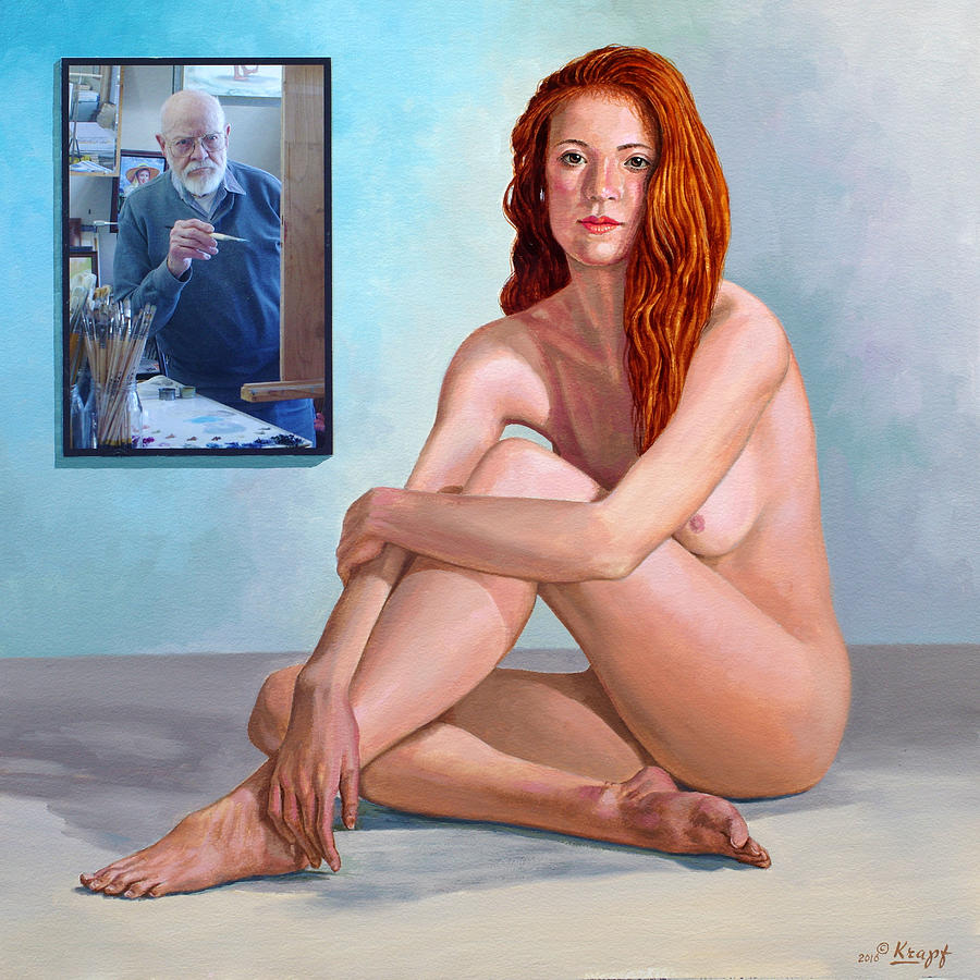 Nude Painting - My Muse And I  by Paul Krapf