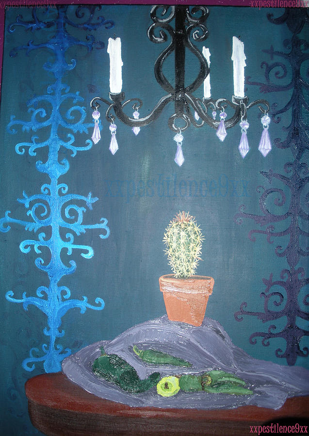 Still Life Painting - My My Cacti by April Copeland