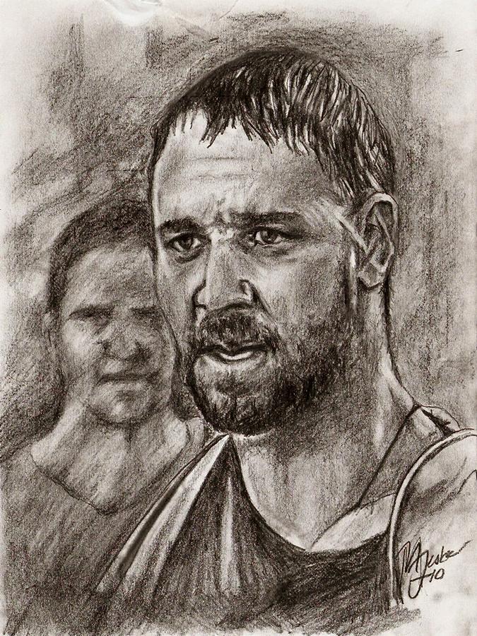Ridley Scott Drawing - My Name Is Maximus Decimus Meridius by Maren Jeskanen