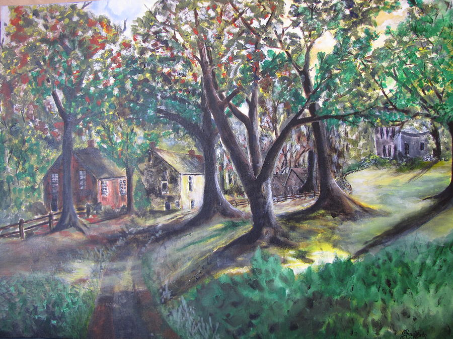 Abstract Painting - My Old Southern Plantation Home by Gary Smith