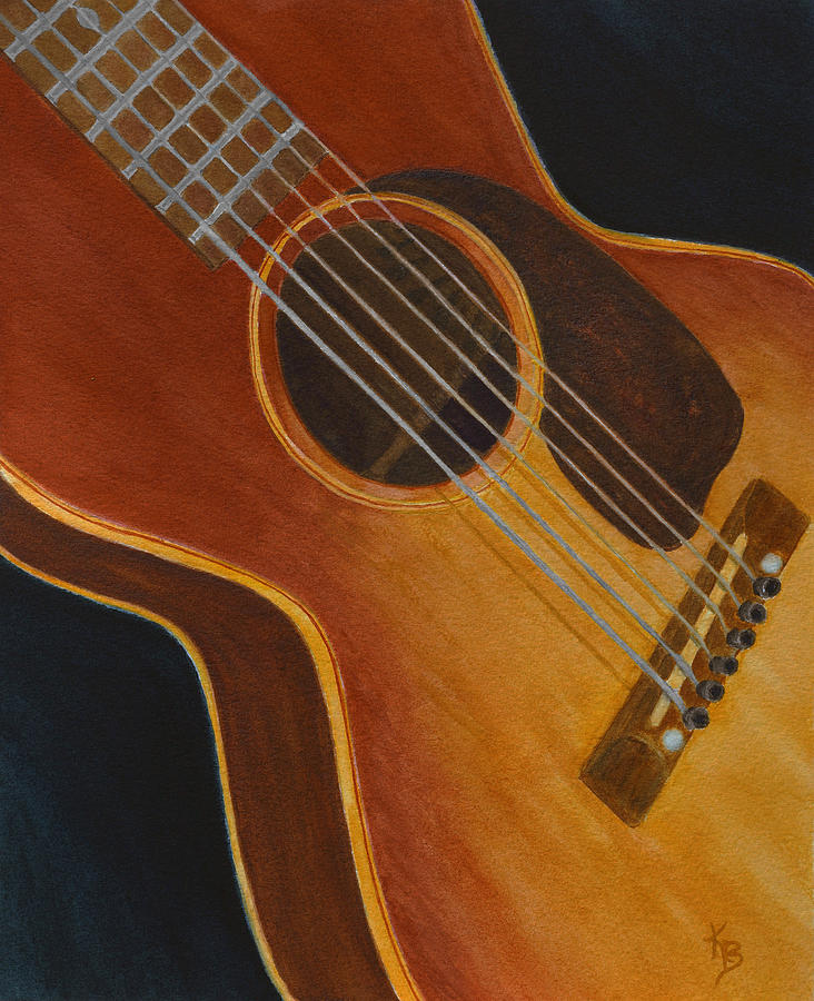 My Old Sunburst Guitar by Karen Fleschler