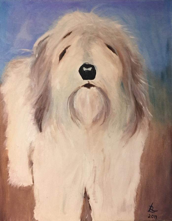 Dog Painting - My Oscar by Ryszard Ludynia