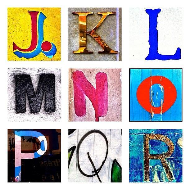 Alphabet Letters Photograph - my own alphabet J to R by Julie Gebhardt