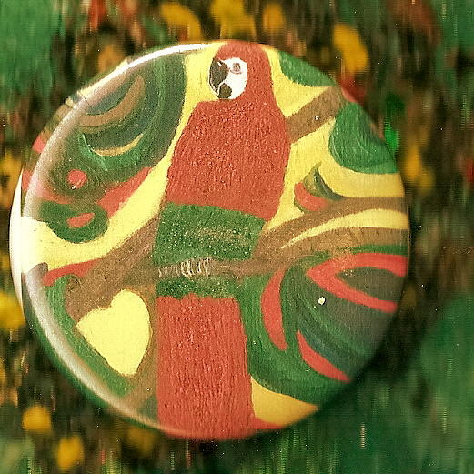 Parrot Mixed Media - My Parrot Magnet by Anne-Elizabeth Whiteway
