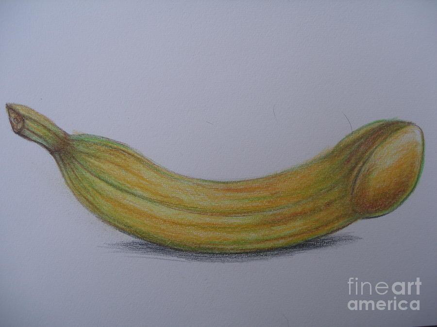 Penis Drawing - My Phallus Banana by Marcin Stec