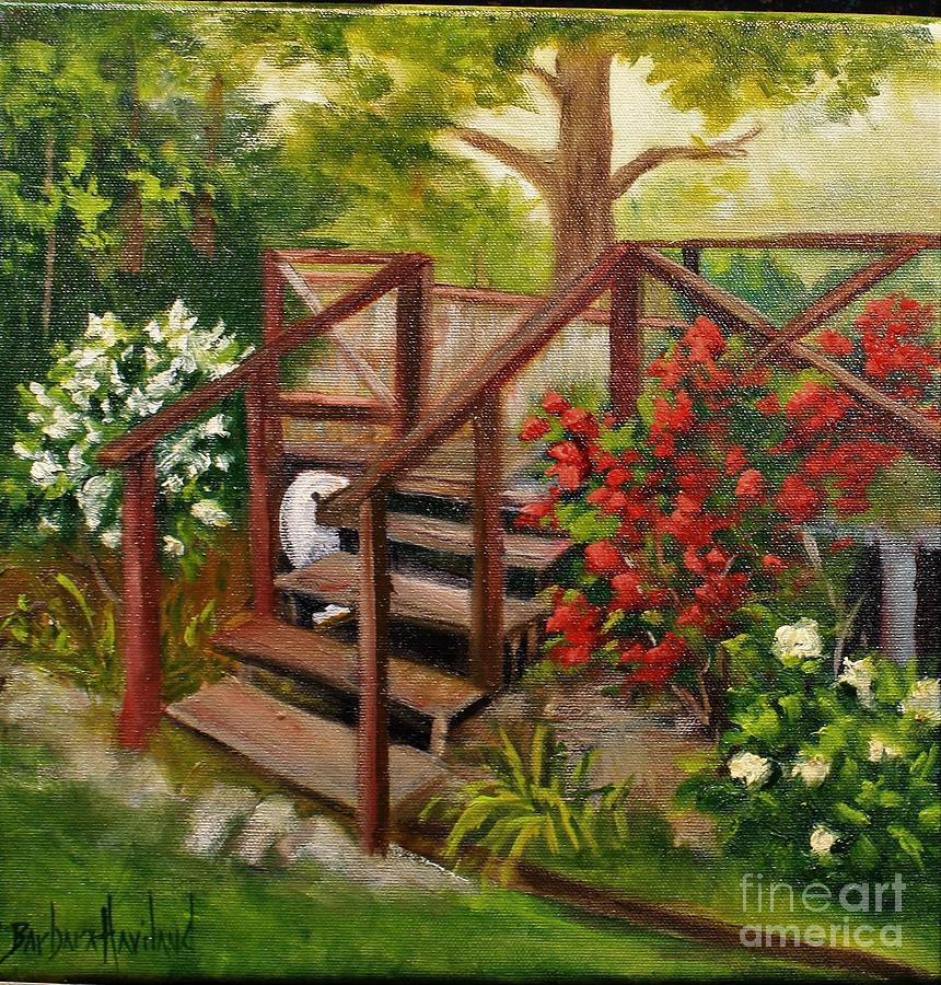 Steps Painting - My Porch Steps by Barbara Haviland