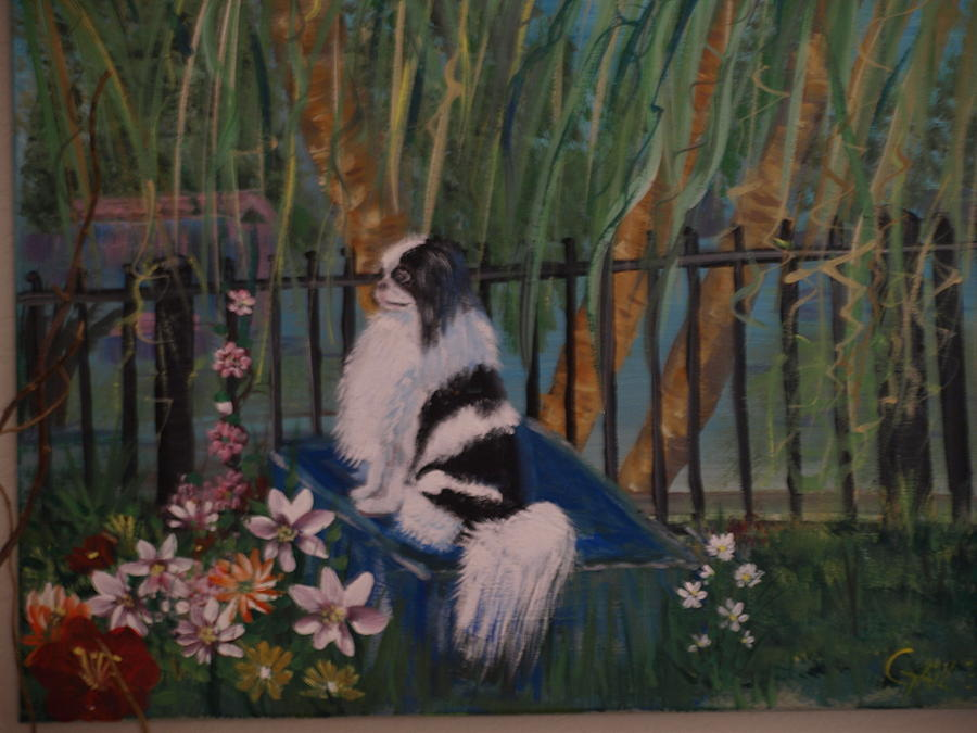 Dog Painting - My Prissy by Gail Aldrich