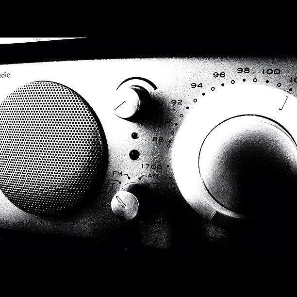 Blackandwhite Photograph - #my #radio #listening #music #news #pop by Max Guzzo