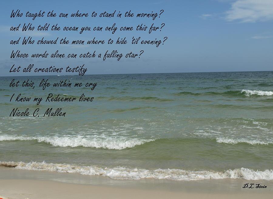 Beach Photograph - My Redeemer by Dennis Stein