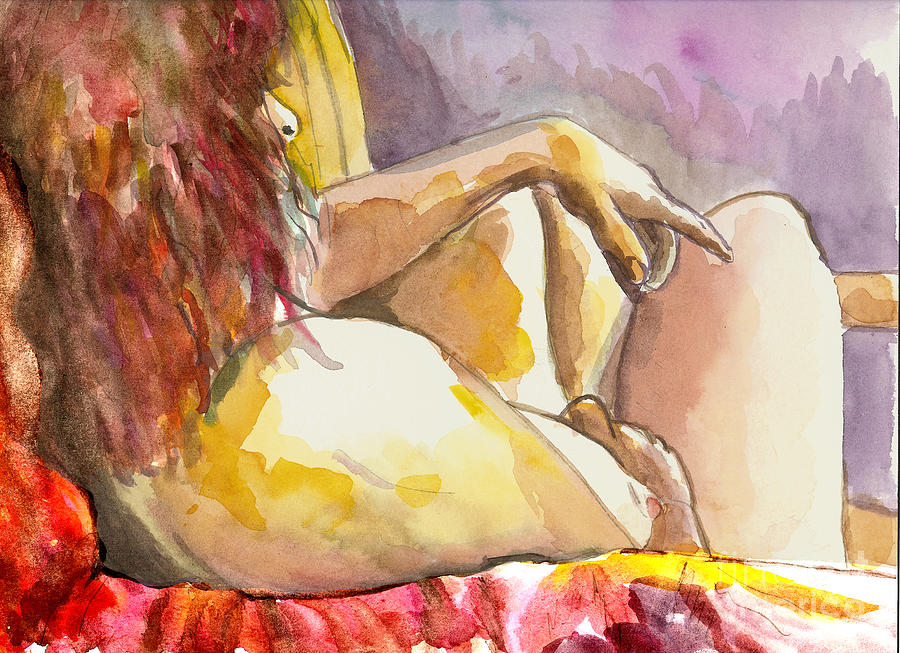 Figure Drawing Painting - My Right Shoulder by Tali Farchi