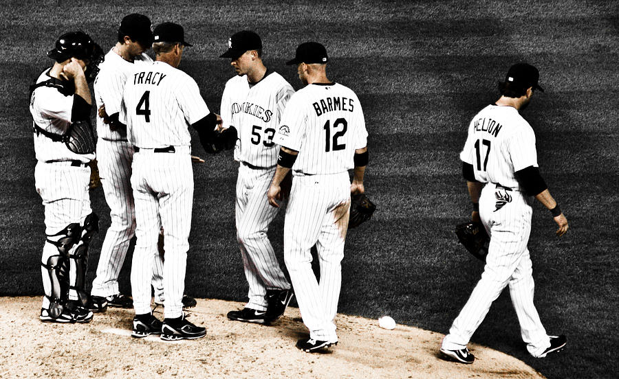 Baseball Photograph - My Rock Collection - Colorado Rockies by Marilyn Hunt