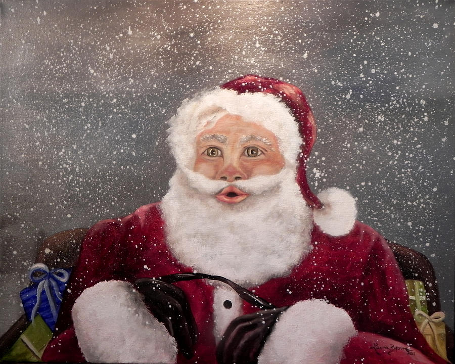 Fantasy Painting - My Santa by Laura Brown