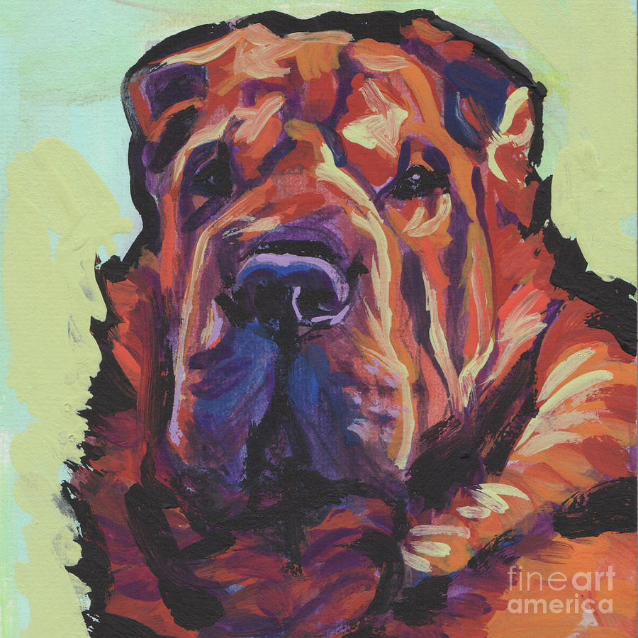 Chinese Shar Pei Painting - My Shar Bear by Lea