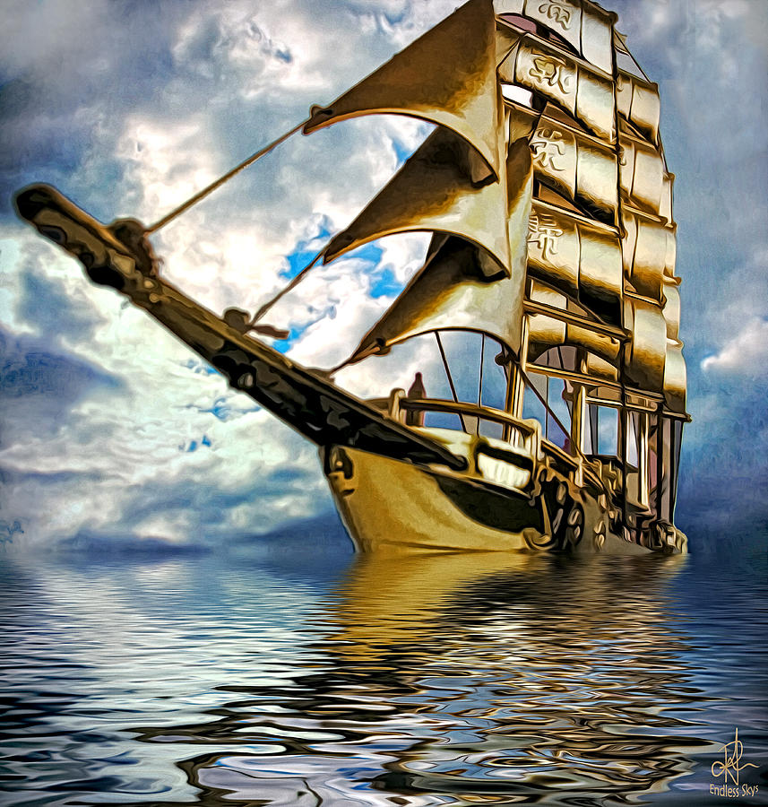 Ship Photograph - My Ship Comes In by Pennie  McCracken