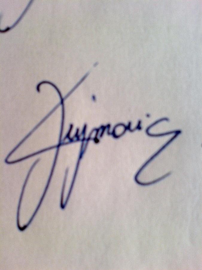 My Signature Painting - My Signature by Nathalie  Dujmovic