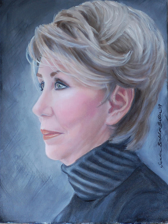 Portrait Painting - My Sister by Sandra Butler