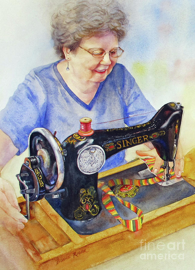 Sister Painting - My Sisters Joy by Bonnie Rinier